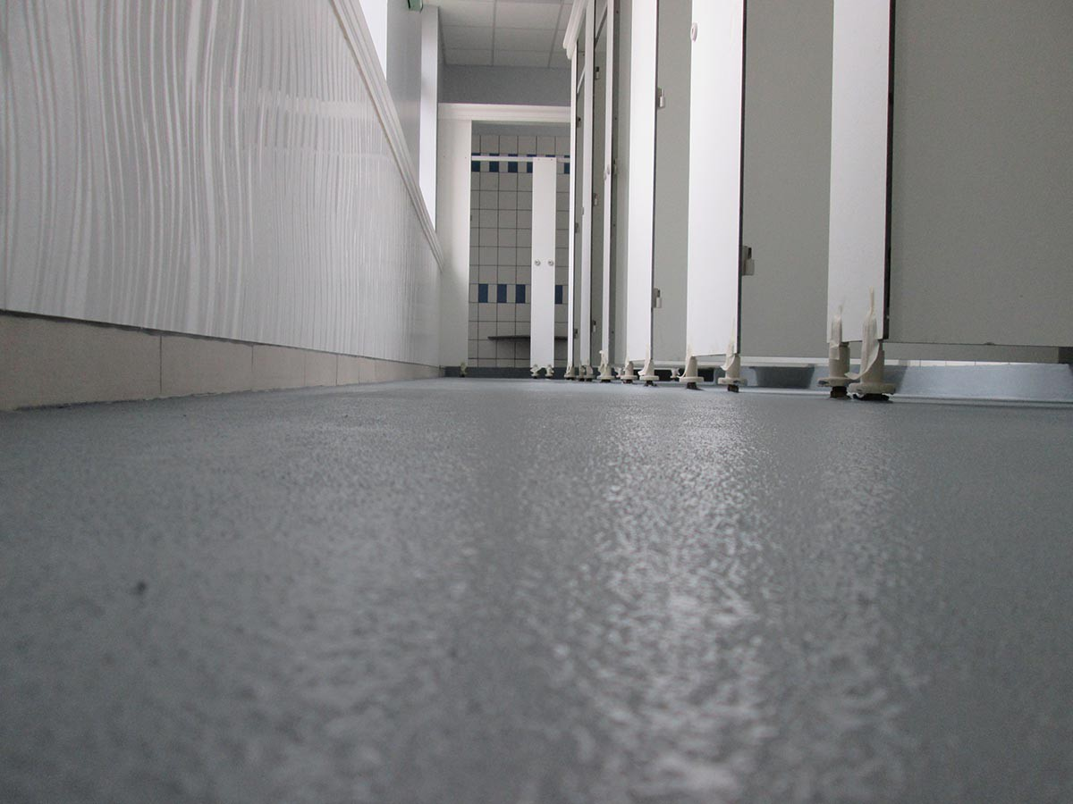 Floor repair for changing rooms and showers